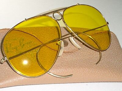 1960's BAUSCH & LOMB RAY-BAN 1/10 12K-GF KALICHROME SHOOTERS AVIATOR SUNGLASSES