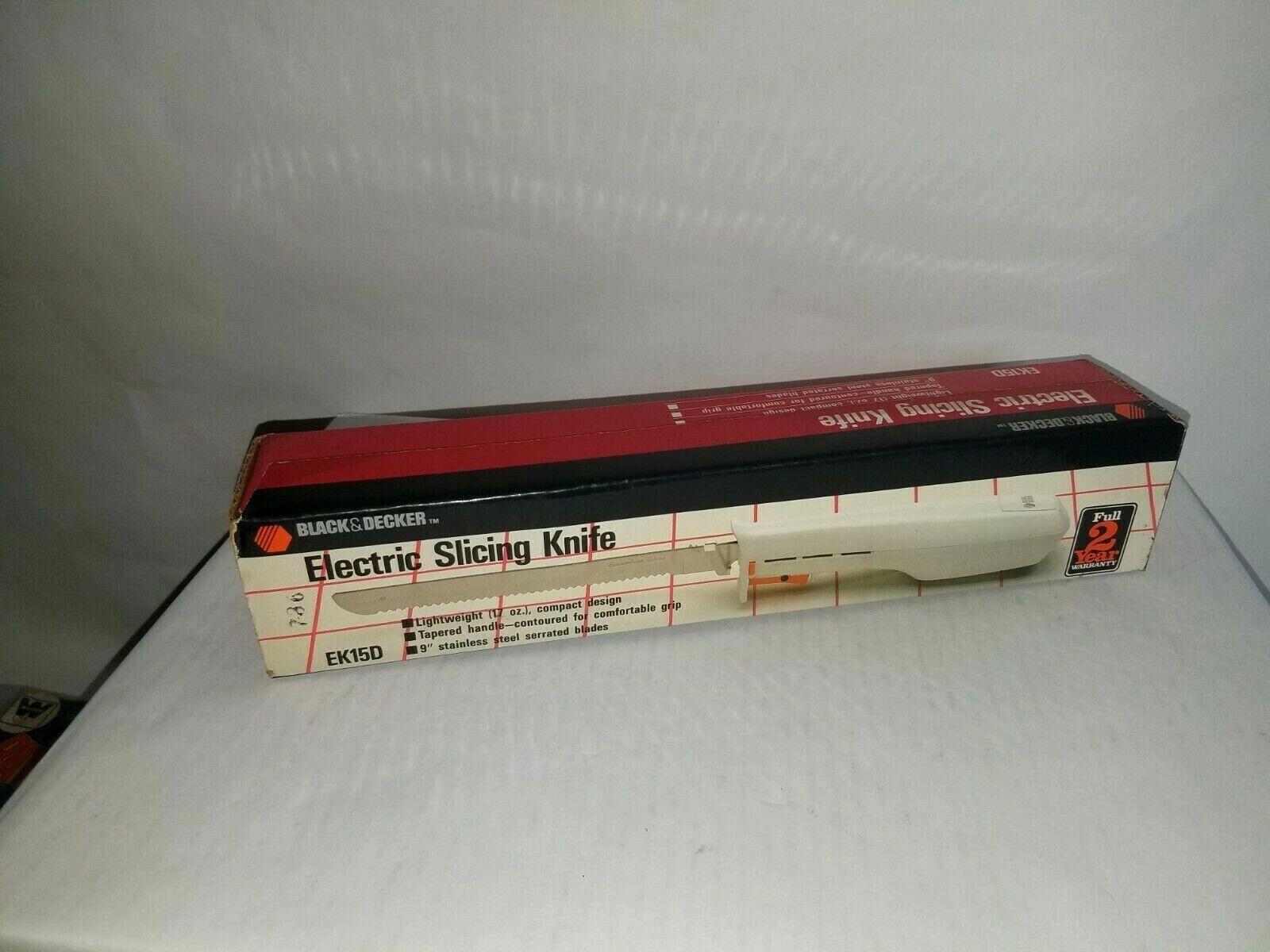 """Vintage Black & Decker Electric Slicing Knife Lightweight 9"""""""