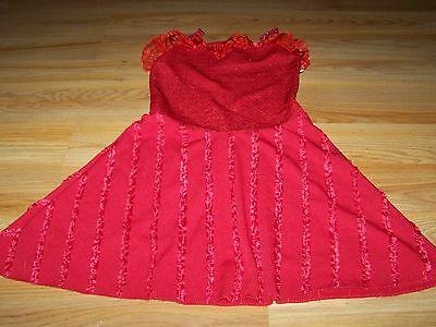 Size Small Disney High School Musical Gabriella Red Costume Dress Halloween EUC](Gabriella High School Musical Costume)
