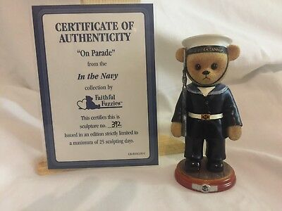 the hamilton collection faithful fuzzies in the navy On Parade 5.5 inch