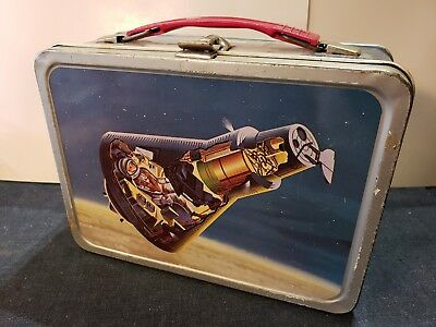 1963 THERMOS JOHN GLENN MERCURY SPACE CAPSULE CLEAN VINTAGE METAL - Metal Lunchbox