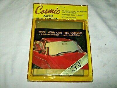 A Vintage 1983 Originally Carded NOS Australian Cosmic Auto Sun Screen