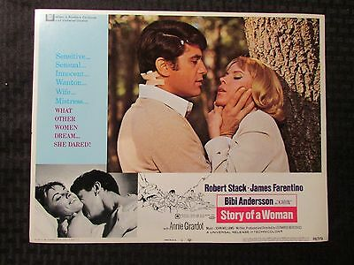 "1969 STORY OF A WOMAN Original 14x11"" Lobby Card #5 VG 4.0 Bibi Anderson"