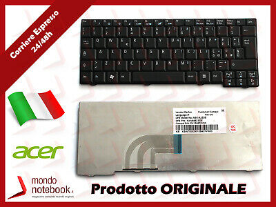 Tastiera Italiana layout ITA Keyboard per netbook ACER Aspire ONE KAV60 NERA
