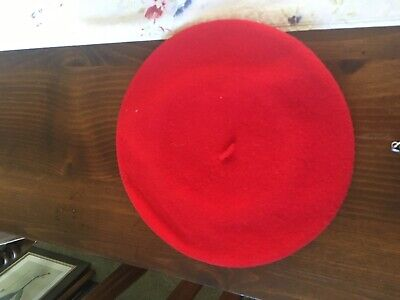 100 % Wool  Red Berret Women's Hat small -FROM SOUTH AFRICA