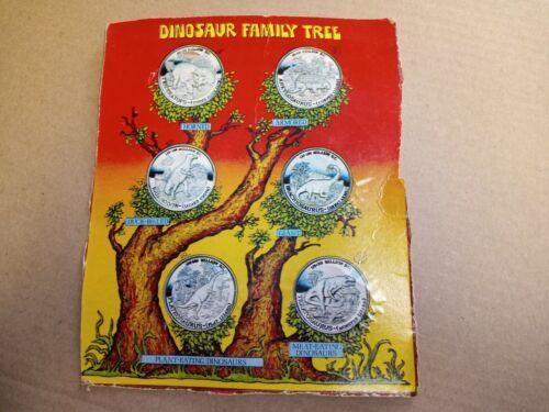 1979 Post Cereal Dinosaur Family Tree Coin Display Promo Premium