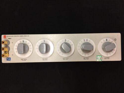 General Radio 1433-M 5-Dial Decade Resistor