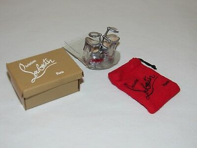 Christian Louboutin Barbie Shoes Silver Strappy Sandals Heels w/ Bag & Box (#2)