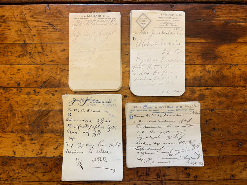 Lot of 200+ Antique Vtg Pharmacy Rx Prescriptions Apothecary C1888-1902 Obsolete