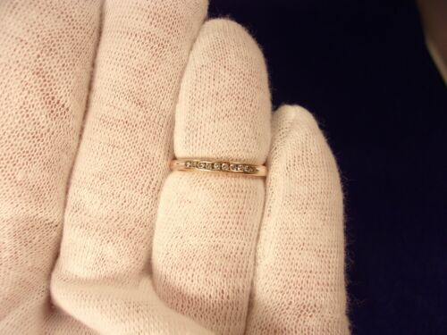 Excellent Beautiful 14k Rose Gold & 10 Diamond Anniversary Band, Size 7 X 2.25mm