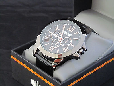 Unlisted Kenneth Cole Men's Analog Disastrous Leather Band Watch UL 0895