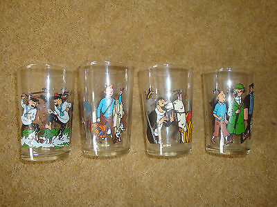 Lovely Tintin Glass - 1986 Lombard - series of 4 - buy individually.