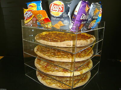 Displays2buy 18 Pizza Showcase Retail Store Acrylic Display Cases