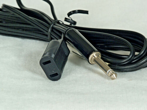"Norman female House Hold Sync Cord to Male 1/4"" Phono mono plug (12"
