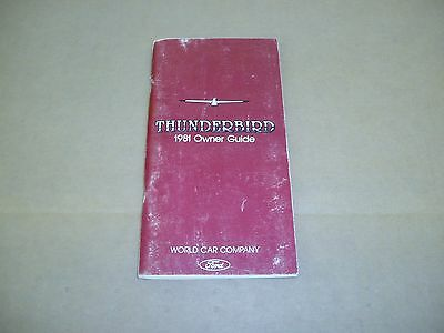 1981 Ford Thunderbird owners manual book literature ORIGINAL guide