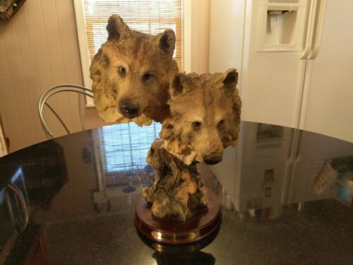 Ashley Belle Two Wolves Statuette