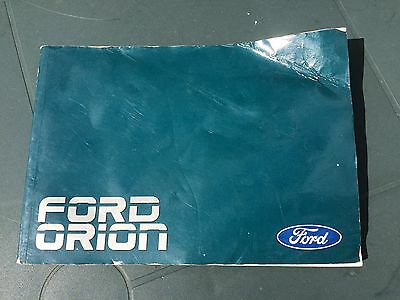 Genuine Ford Orion Owner's operating manual, Ghia, GL