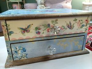 Shabby Chic Mini Jewellery Trinket Storage Drawers Storage Dressing Table Box