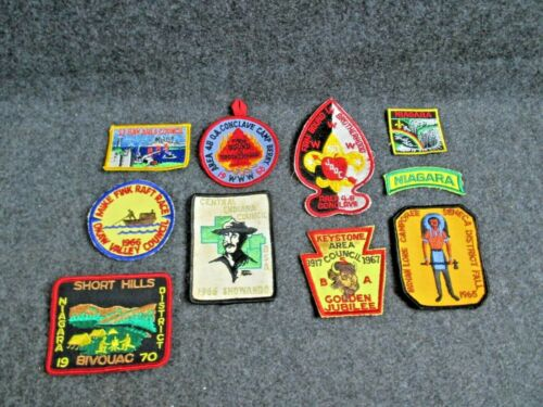 Group of 10 Vintage Boy Scout Patches (Lot A)