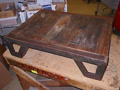 Antique Weld-bilt West Bend Equipment Die Tables Wood Metal 27.5 X 21.25 X 7.5