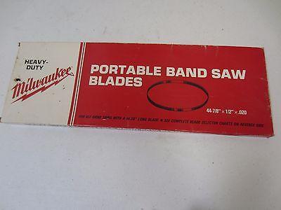 Milwaukee Portable Band Saw Blade 44-78 X 12 X .02 1014 Tpi 48-39-0550