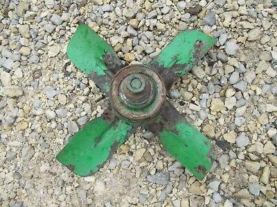 John Deere Mt Tractor Jd Fan Blade Assembly W Belt Drive Pulley