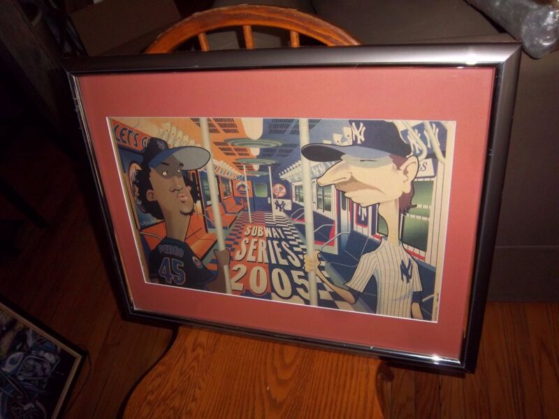 NYC SUBWAY SERIES METS YANKEES NY DAILY NEWS FRAMED CLASSIC SPORT COLLECTIBLE