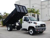 2005 Chevrolet C4500 Kodiak 14ft Flatbed Dump Truck Duramax Diesel 1 Owner FL