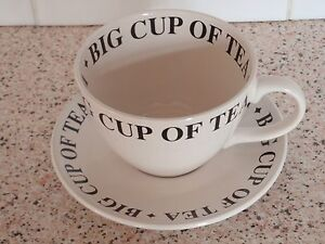 Whittard of Chelsea Big Cup of Tea and Saucer Set BNWOB