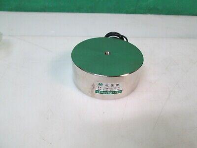 24v 120kg Electromagnet Solenoid Electric Lifting Magnet Holding Disc 100 X 40mm