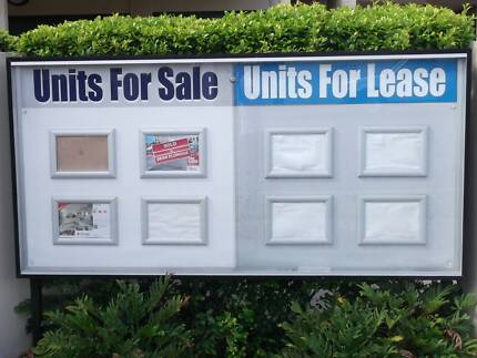 Sign &  Notices Display Cabinet for shops, schools, apartments.. Scarborough Redcliffe Area Preview