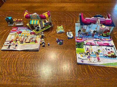 LEGO Friends Downtown Bakery & Pet Salon (41007 & 41006) 100% COMPLETE w/manuals