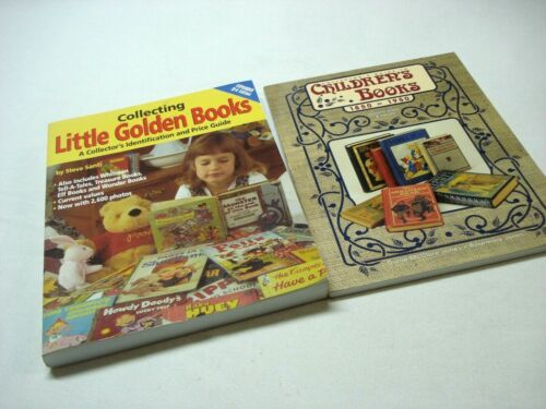 LOT OF 2 CHILDRENS AND LITTLE GOLDEN COLLECTOR IDENTIFICATION PRICE GUIDE BOOKS