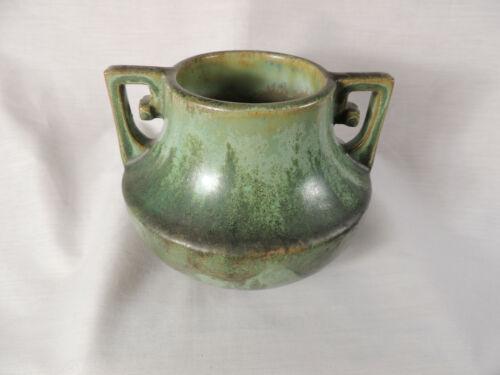 Fulper Pottery Green Double Handled Vase