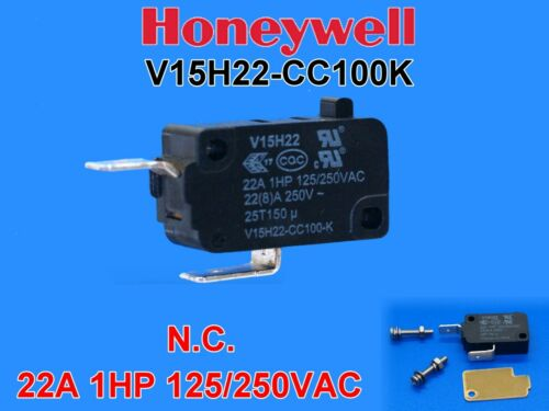 1PC Honeywell V15H22-CC100K Micro Switch N.C. Appliance Duty Microwave, Oven +
