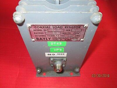 Bayly Model Dl 1-101 Coaxial Load Resistor Used Dummy Load 100 Watt 1.1 To 1000