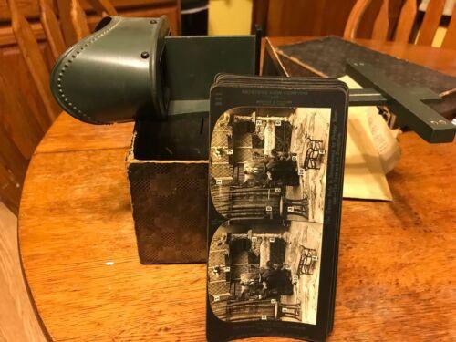 Vintage Keystone Eye Comfort Stereoscope &12 Depth Perception Series Cards & Box