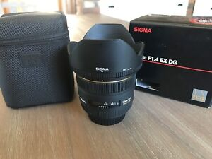 SIGMA 50mm f1.4 EX DG ... for Canon