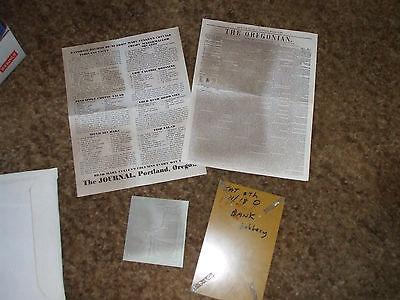 Newspaper Tour Kit Oregonian Journal