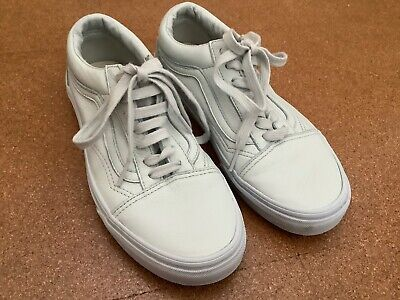 Vans Old Skool Off The Wall White Leather Trainers size UK 5 /EU 38.