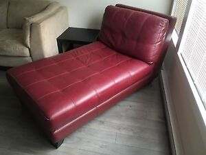 Genuine Leather Designer Chaise Sofa For Sale