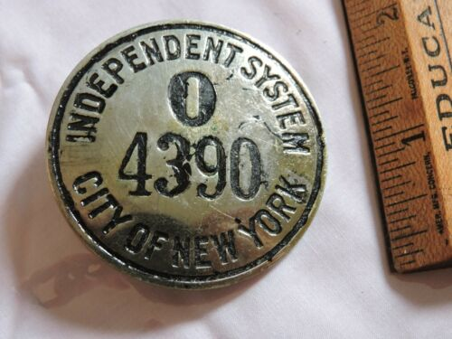 1940 New York City Subway IND Independent Transit Railroad NYC Badge