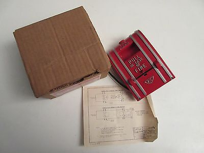 Nos Edwards Signaling 270a-spo Fire Alarm Pull Station Spno Wire Leads Wbox