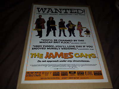 The James Gang (Film) - 90's London West End Cinema Magazine Advert - Retro Art