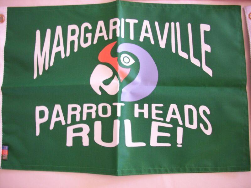 PARROT HEADS RULE Official Margaritaville Jimmy Buffett Boat Flag NIB