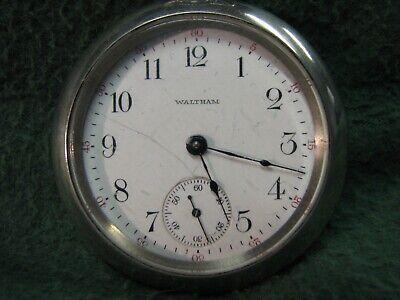1911 Waltham Pocket Watch 18s 15j Grade 81 W/ Philadelphia SILVERODE Case