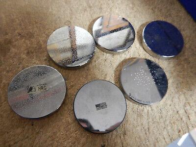 6 Round Hardness Tester Calibration Anvils Blocks Machinist Tooling