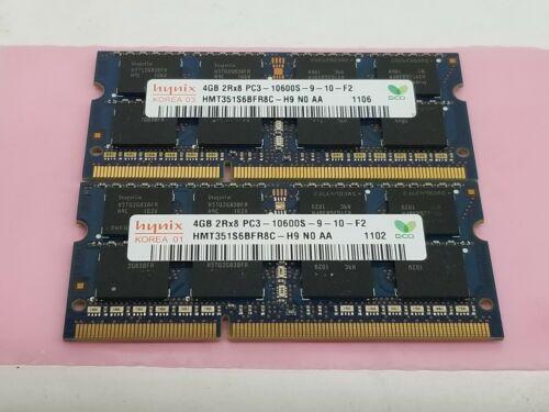8GB (2 x 4GB) DDR3 PC3-10600s SODIMM Laptop memory Hynix HMT351S6BFR8C