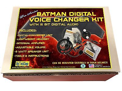 BATMAN DIGITAL VOICE CHANGER HELMET SYSTEM COSTUME COSPLAY PRO SERIES NEW!! - Kids Gumby Costume