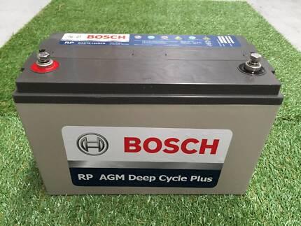 BOSCH AGM 120AH 12V Deep Cycle Batter 4x4 RV Marine Camping Capalaba Brisbane South East Preview